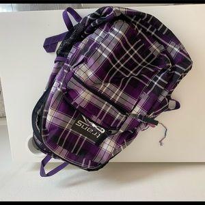black and purple jansport backpack